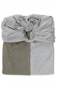 Little Baby Wrap Without a Knot - Mottled Grey, Olive