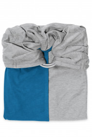 Little Baby Wrap Without a Knot - Mottled Grey, Pigeon Blue