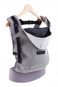 HoodieCarrier Gris Flanelle