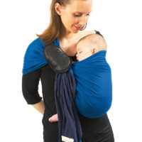 If your baby is under 4 months old, support his head by pulling the fabric up on to his ears or, even better, by tucking the rail into the upper hem in order to create a small bolster.